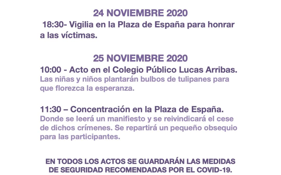 Morata conmemora el Día Internacional de la Eliminación de la Violencia contra la Mujer con diversos actos