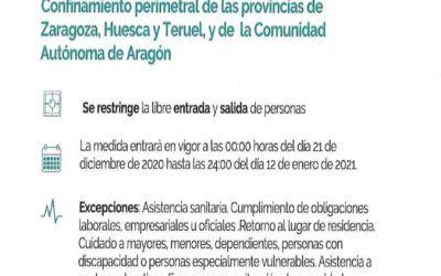 El Ayuntamiento de Morata de Jalón recuerda las restricciones por la Covid-19 en Aragón