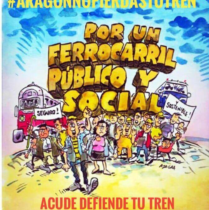 Convocada una nueva concentración en defensa del ferrocarril el próximo domingo 18 de abril a las 9:30 horas
