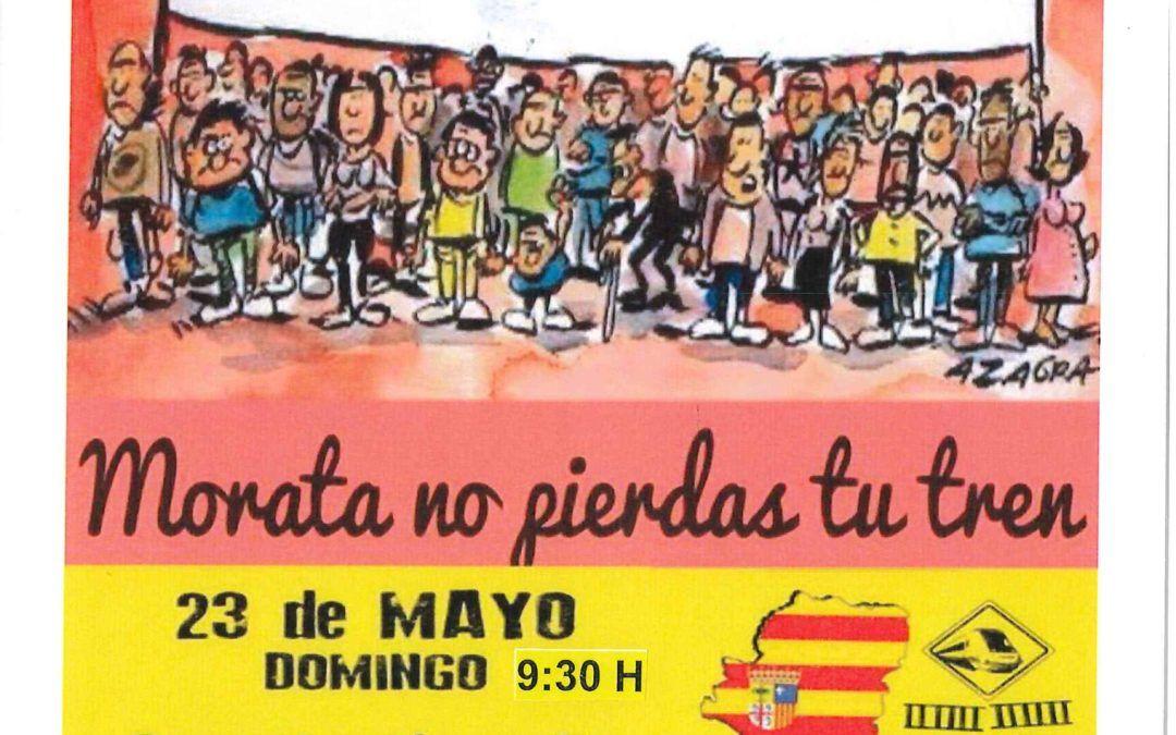 Nueva concentración en defensa del tren el domingo 23 de mayo a las 9:30 horas en el andén de la estación