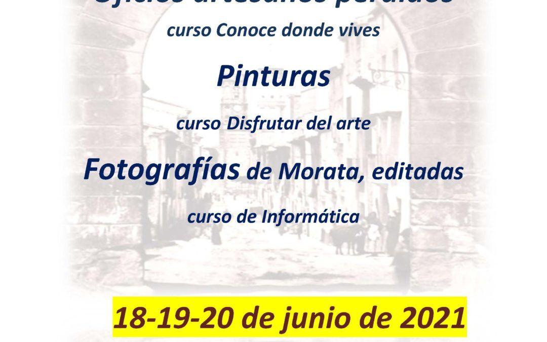 Los alumnos de los cursos del Aula de Adultos realizarán tres exposiciones los días 18, 19 y 20 de junio.