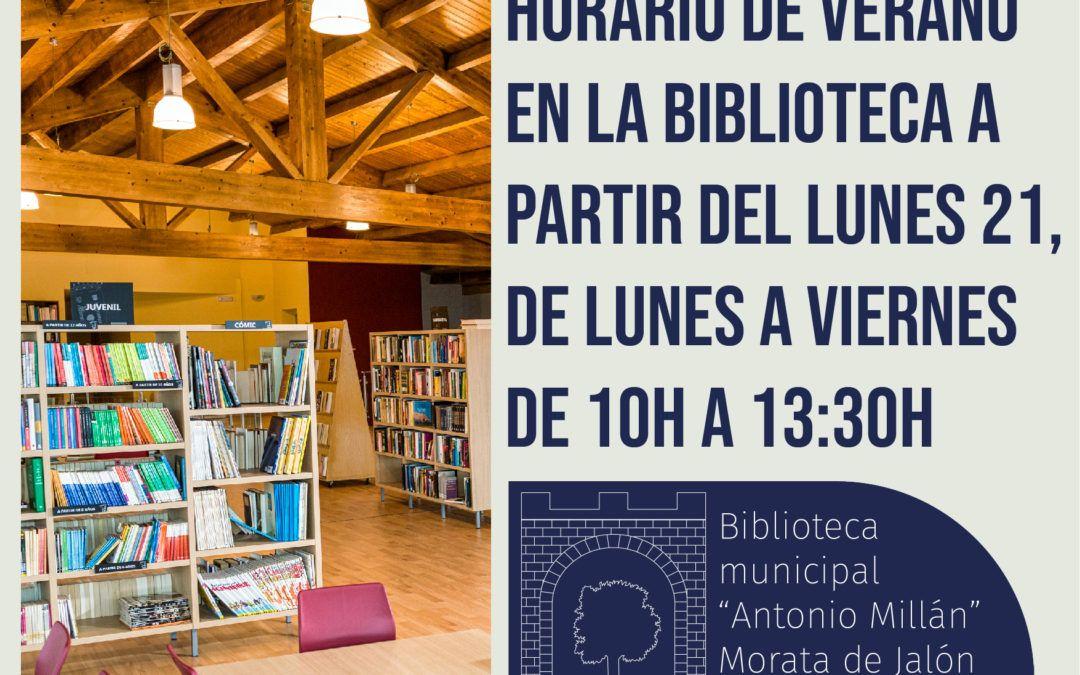 Nuevo horario de verano en la Biblioteca Municipal