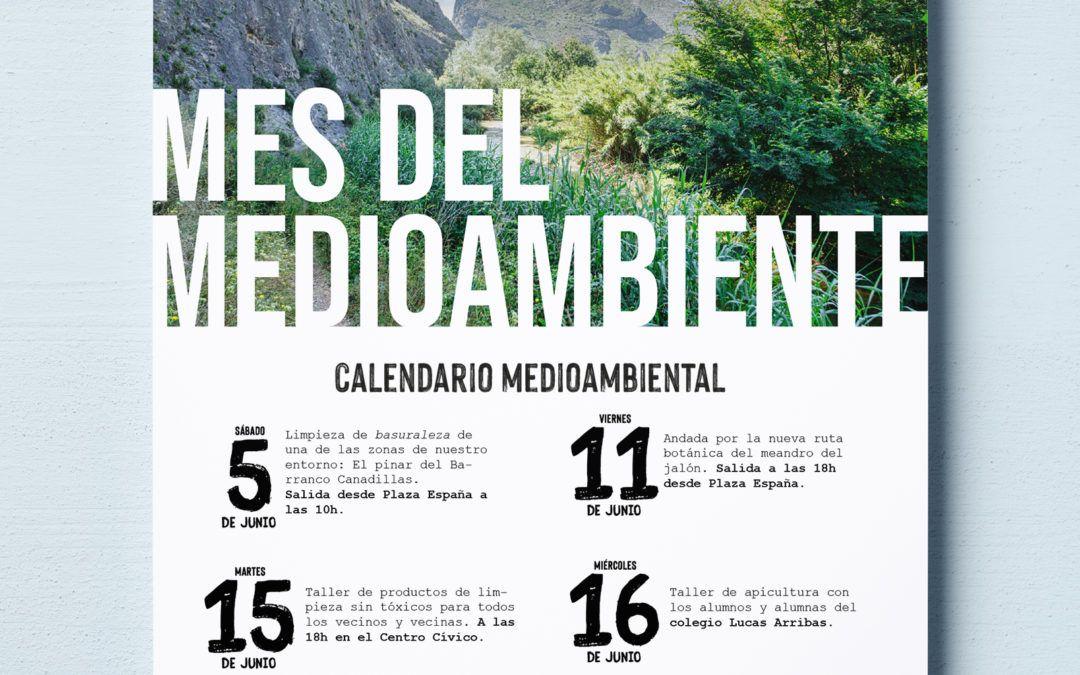 Calendario de eventos en el mes del medioambiente