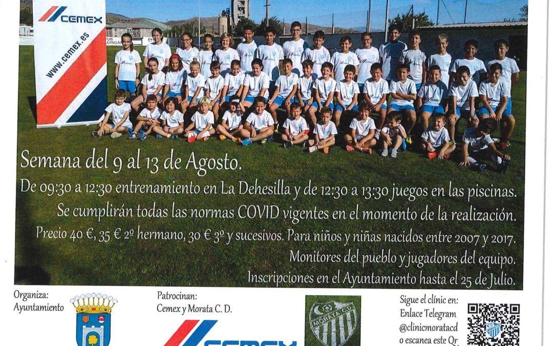 Clinic de fútbol 2021 de Morata de Jalón