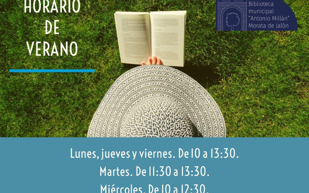 Modificación horario de verano de la biblioteca