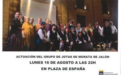 Actuación del Grupo de Jotas de Morata de Jalón