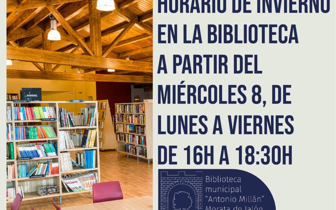 HORARIO DE INVIERNO DE LA BIBLIOTECA